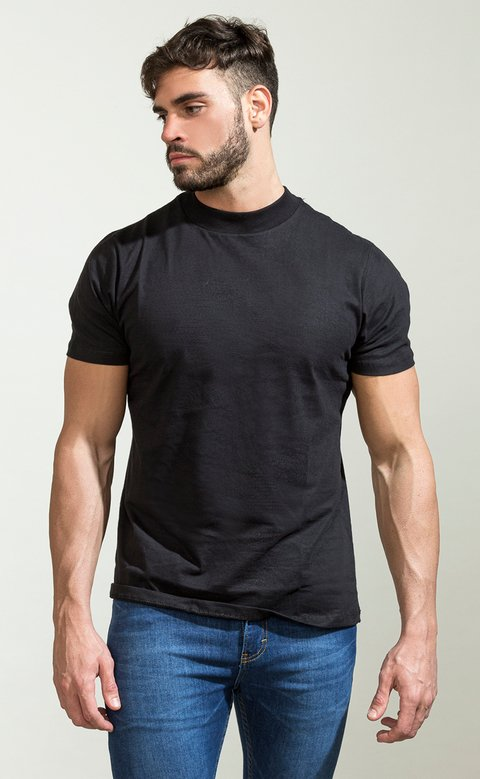 Turtle neck tshirt - black