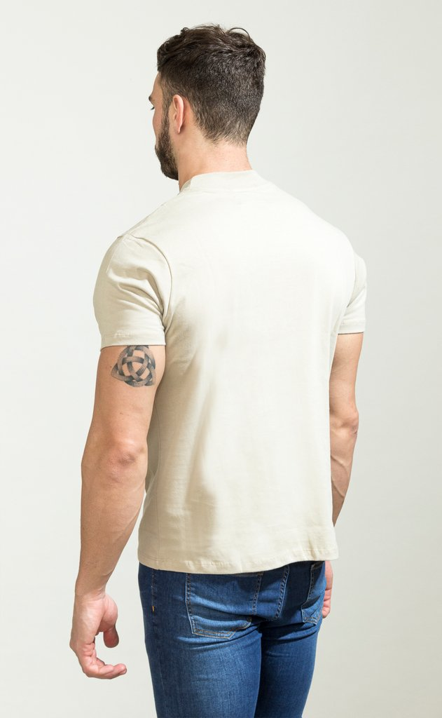 Turtle neck tshirt - cream - comprar online