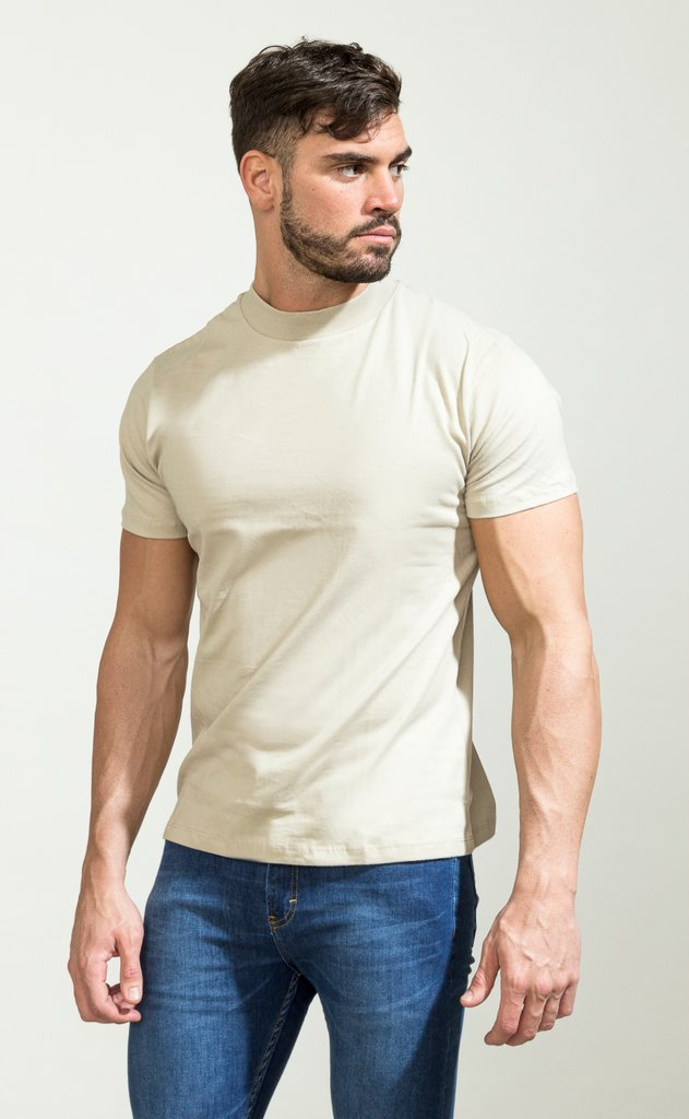 Turtle neck tshirt - cream