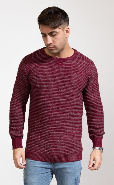 Heavy Knit sweatshirt - wine