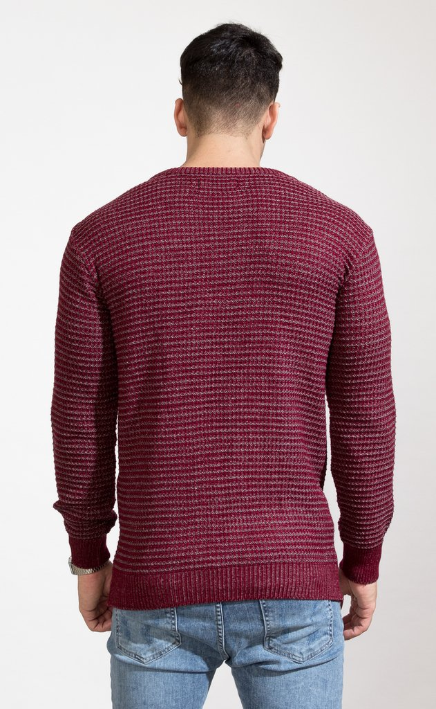 Heavy Knit sweatshirt - wine - comprar online