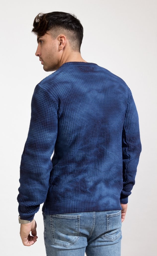 Heavy Knit sweatshirt - Blue batik - buy online