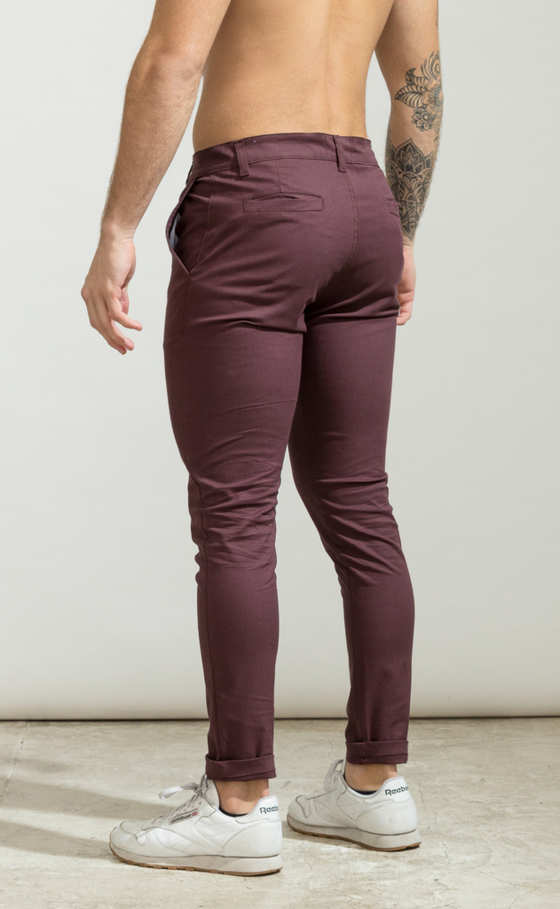 Skinny gabe pants - Wine - buy online