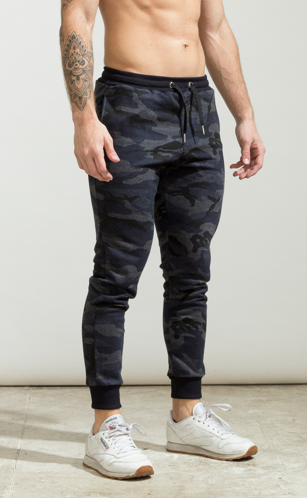 Skinny cotton jogger- Kamo blue