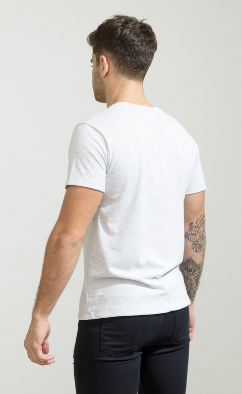 Brooklyn tshirt - light grey melange - comprar online