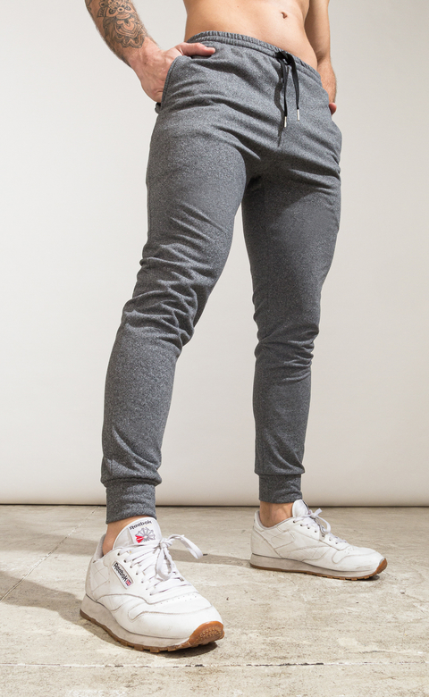 Skinny cotton jogger- Térmico grey