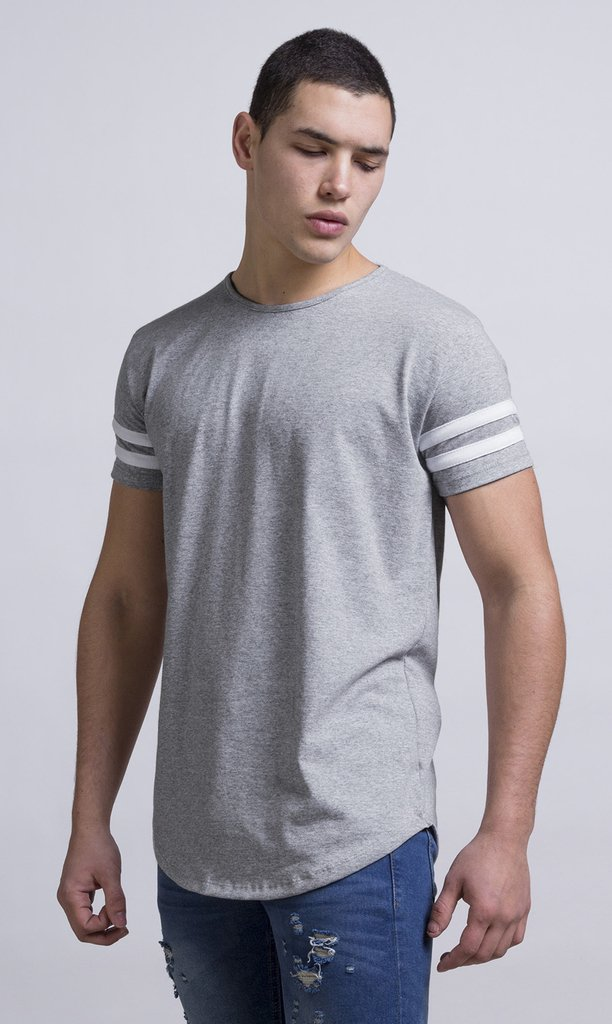Maxi Tshirt - Stripes Grey