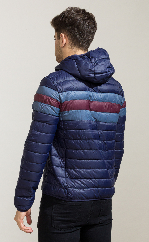 Puffy hoodie Jacket - wine & navy - comprar online