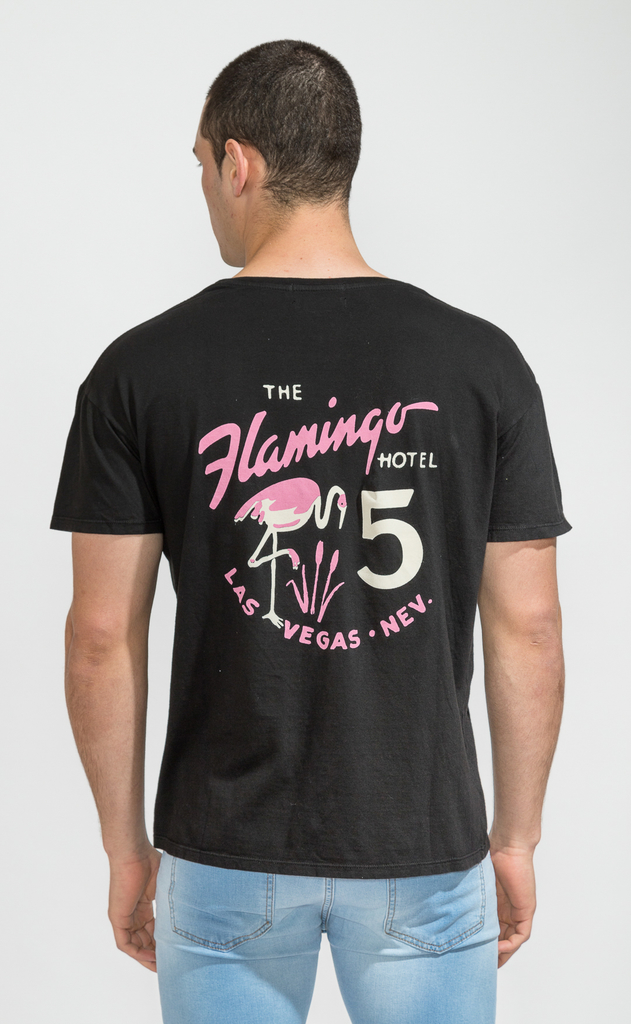 Regular tshirts - flamingo hotel -  Harvey & Willys en internet