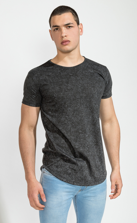 Maxi Tshirt- stone washed black