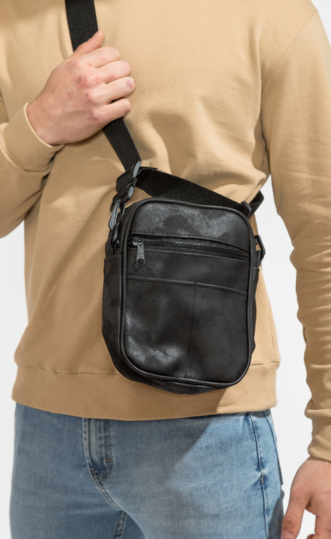 Mini morral - washed black
