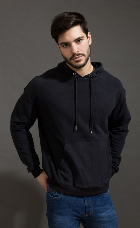 Hoodie sweatshirt - Just Black