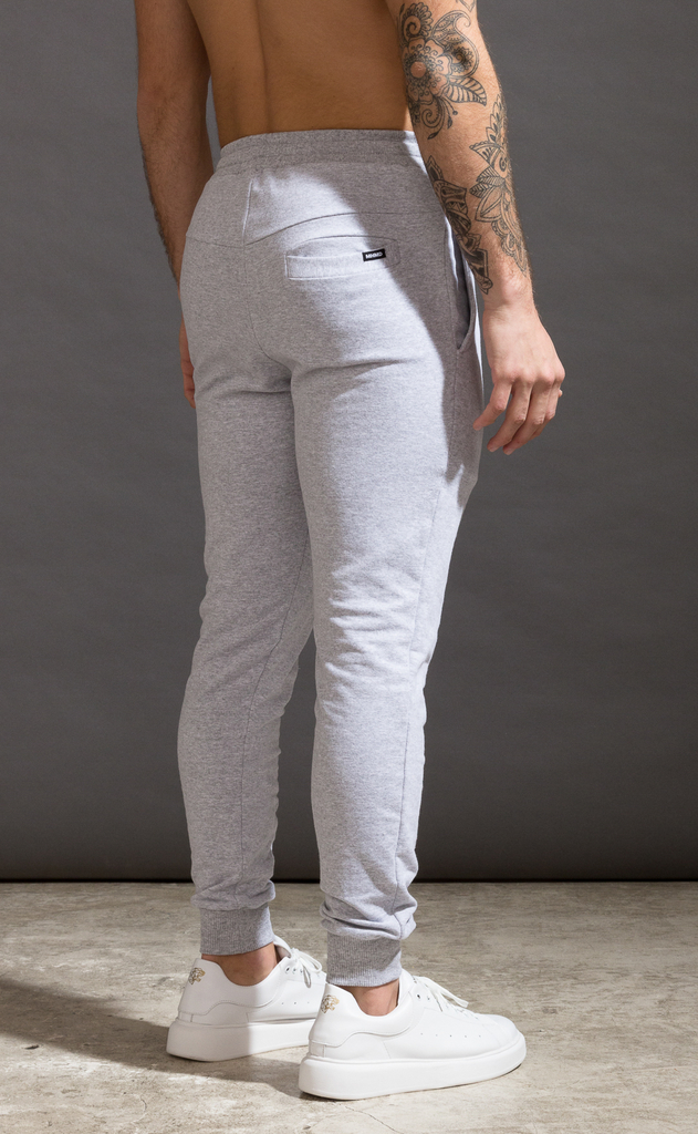 Skinny cotton jogger- Just Grey on internet