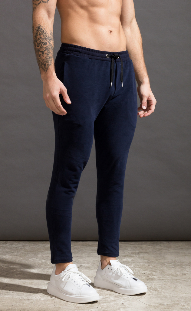 Skinny cotton jogger- Just Blue