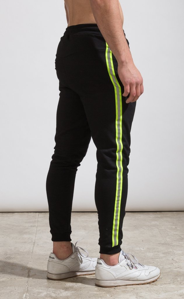 Skinny Jogger - flash stripe Yellow fluo - Mohammed