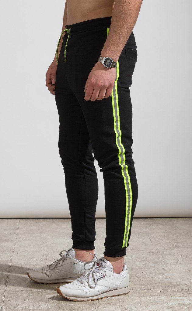 Skinny Jogger - flash stripe Yellow fluo - tienda online