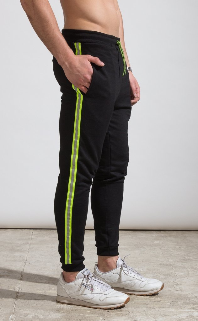Skinny Jogger - flash stripe Yellow fluo en internet