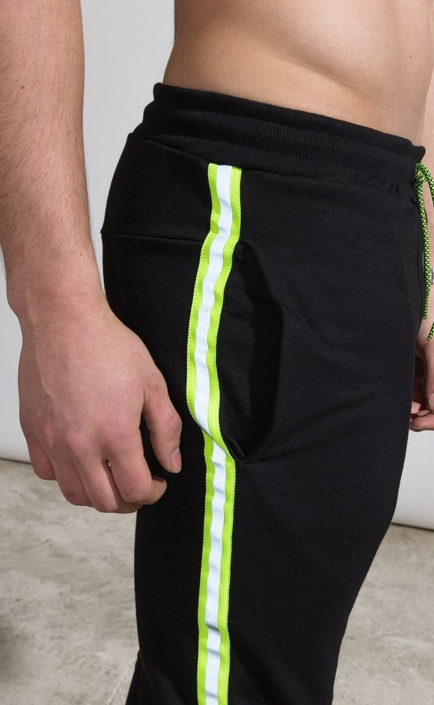 Skinny Jogger - flash stripe Yellow fluo - comprar online