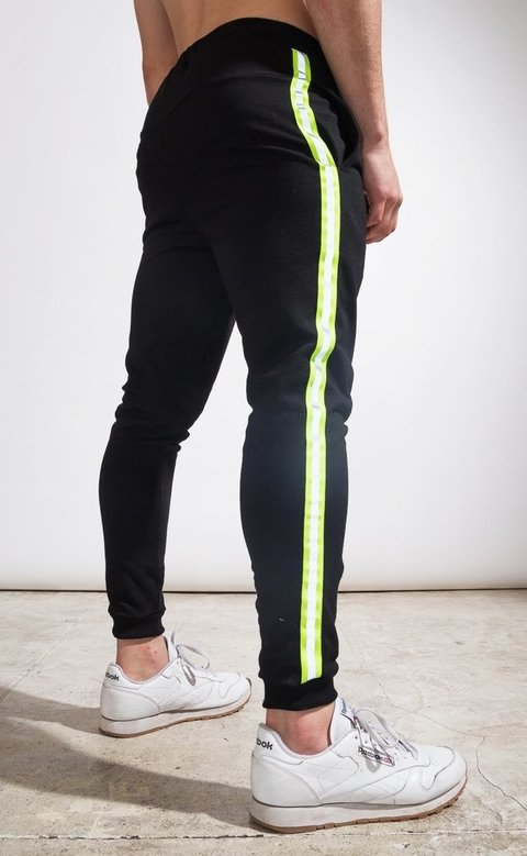 Skinny Jogger - flash stripe Yellow fluo