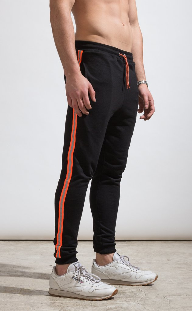 Skinny Jogger - flash stripe Orange fluo on internet