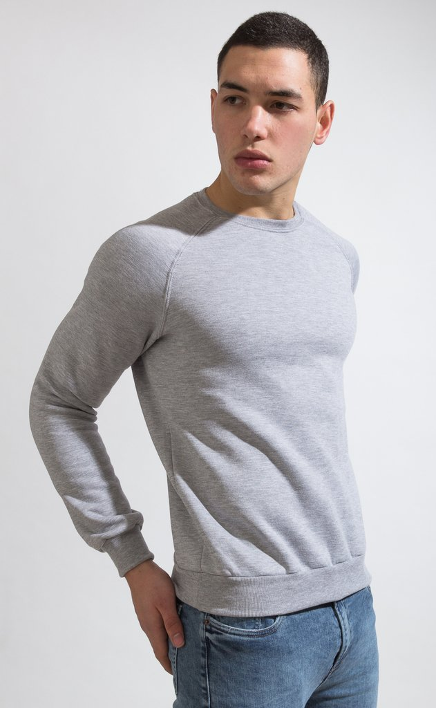 Basic sweatshirt - grey en internet