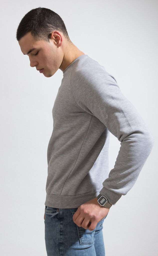 Basic sweatshirt - grey - Mohammed