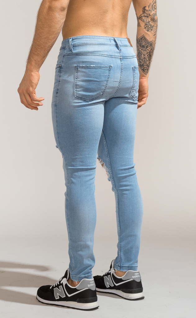 Skinny Jeans - Light blue summer cuts - Harvey & Willys - comprar online