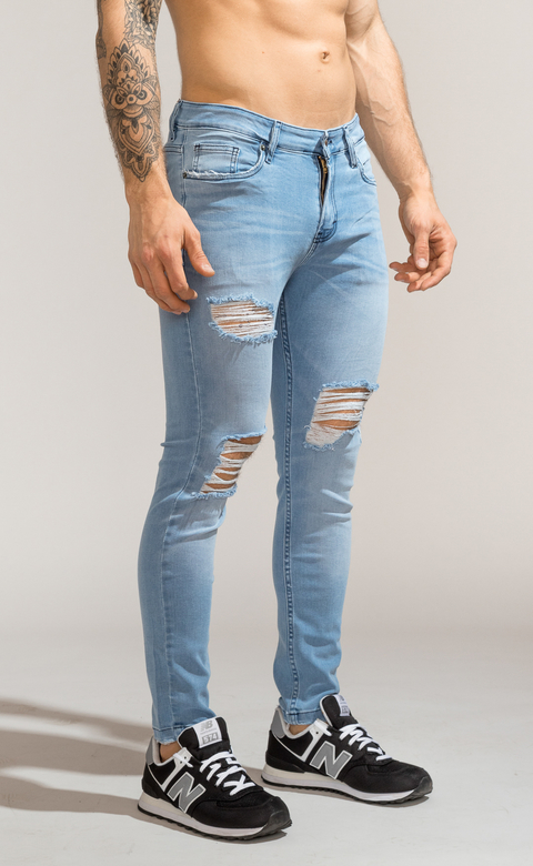 Skinny Jeans - Light blue summer cuts - Harvey & Willys - Mohammed