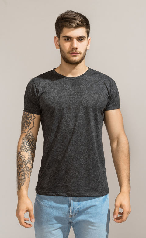 Brooklyn tshirt - Stone washed black