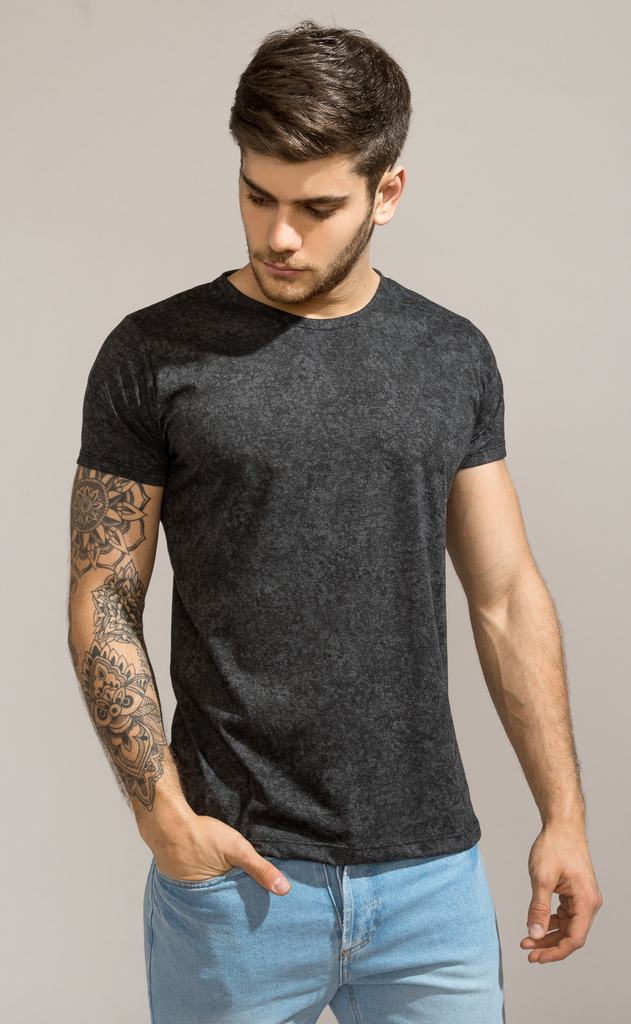 Brooklyn tshirt - Stone washed black - comprar online