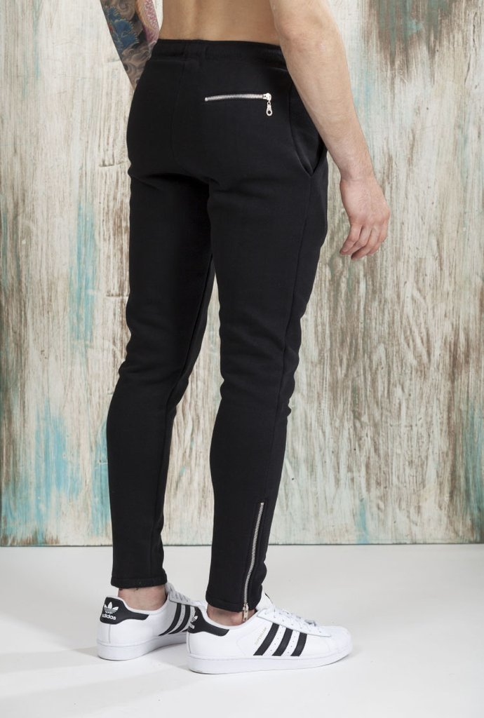Zipper Black Skinny Jogger on internet