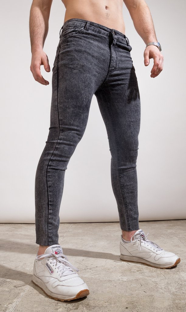 Skinny Jeans - Blue with cut (copia)