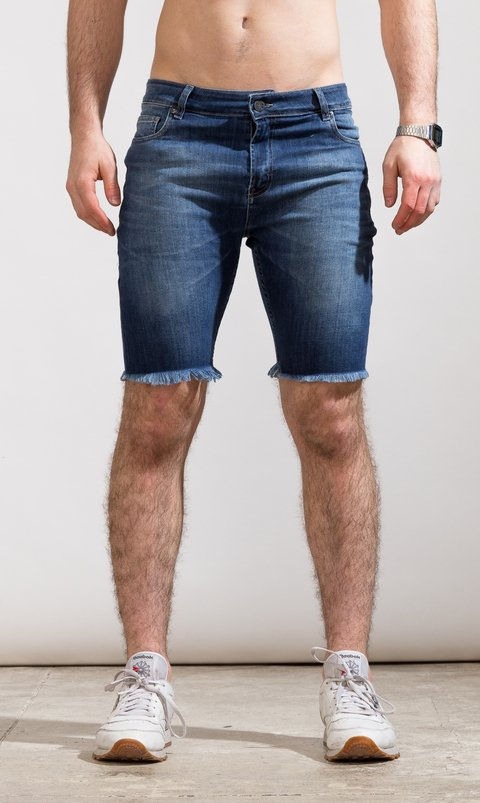 Denim skinny Bermudas - Duke blue