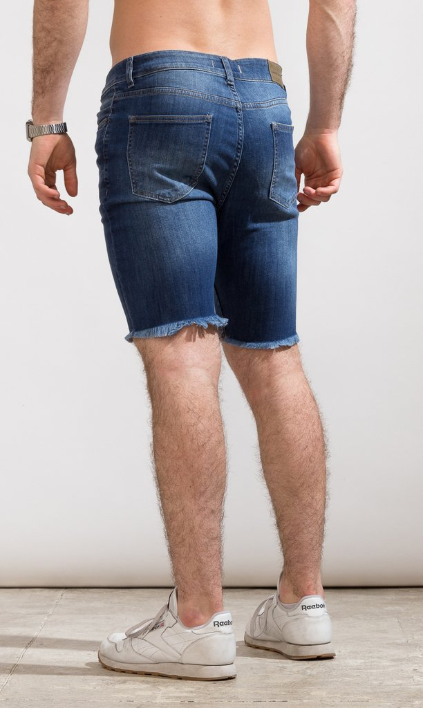 Denim skinny Bermudas - Duke blue - Mohammed