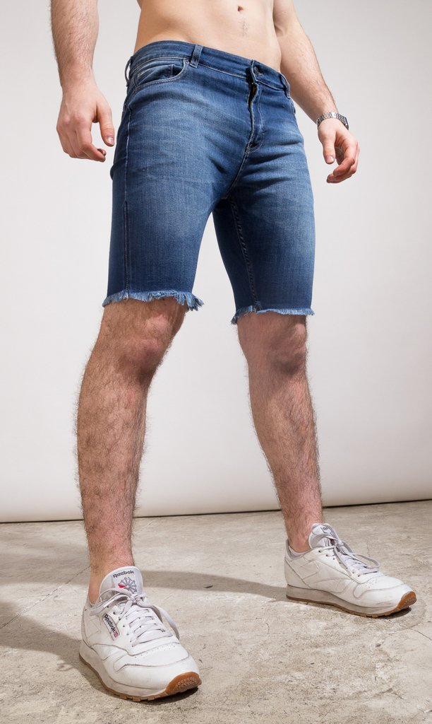 Denim skinny Bermudas - Duke blue en internet