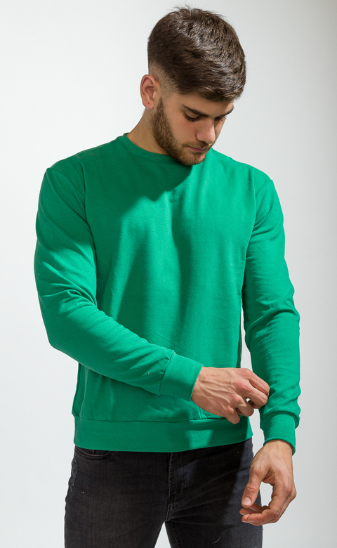 Sweatshirt - cool green
