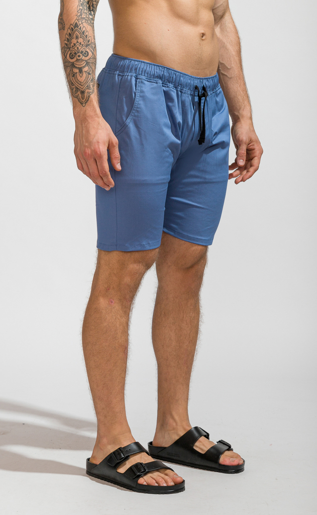 Skinny bermudas - light blue on internet