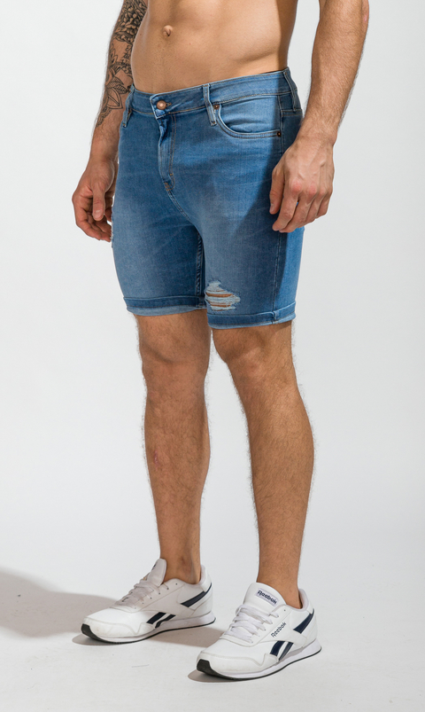 Denim Bermudas - skinny blue