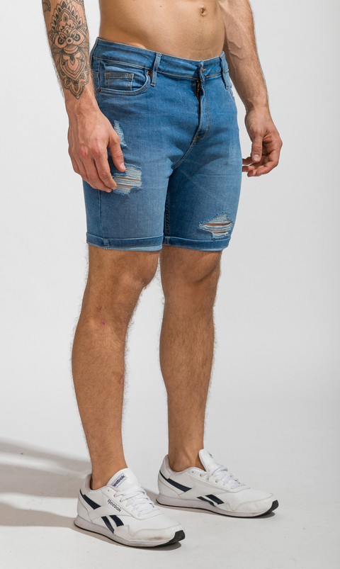 Denim Bermudas - skinny blue en internet