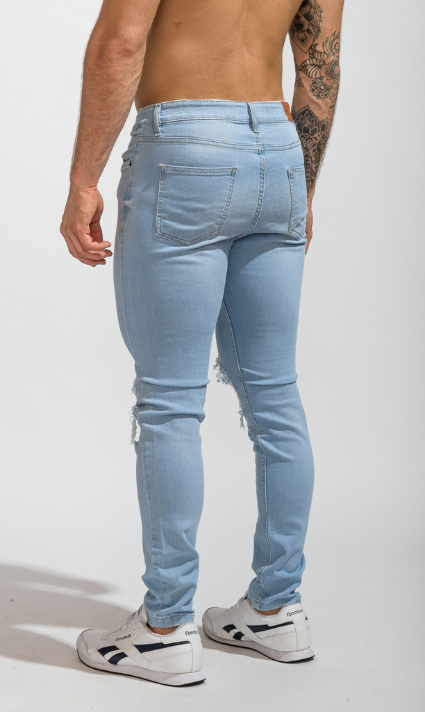 Skinny Jeans - sky destroyed - buy online