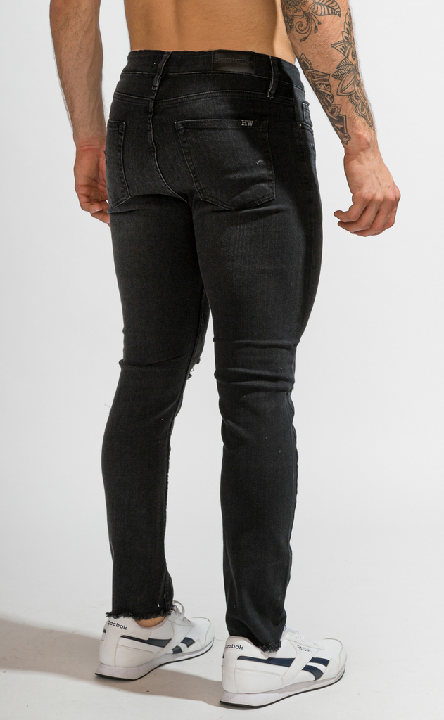 Skinny Jeans - Black with cuts - buy online