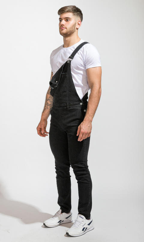Denim Overall  - Black