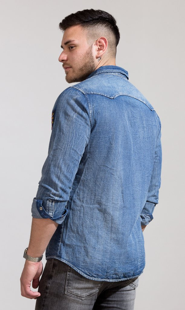 Patches denim shirt - buy online