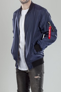 Mohammed bomber jacket - Navy Blue