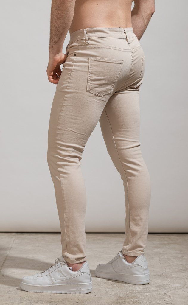 Skinny gabe pants - Cream - Harvey & Willys - comprar online