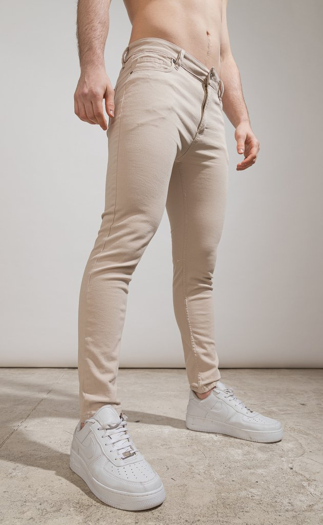 Skinny gabe pants - Cream - Harvey & Willys