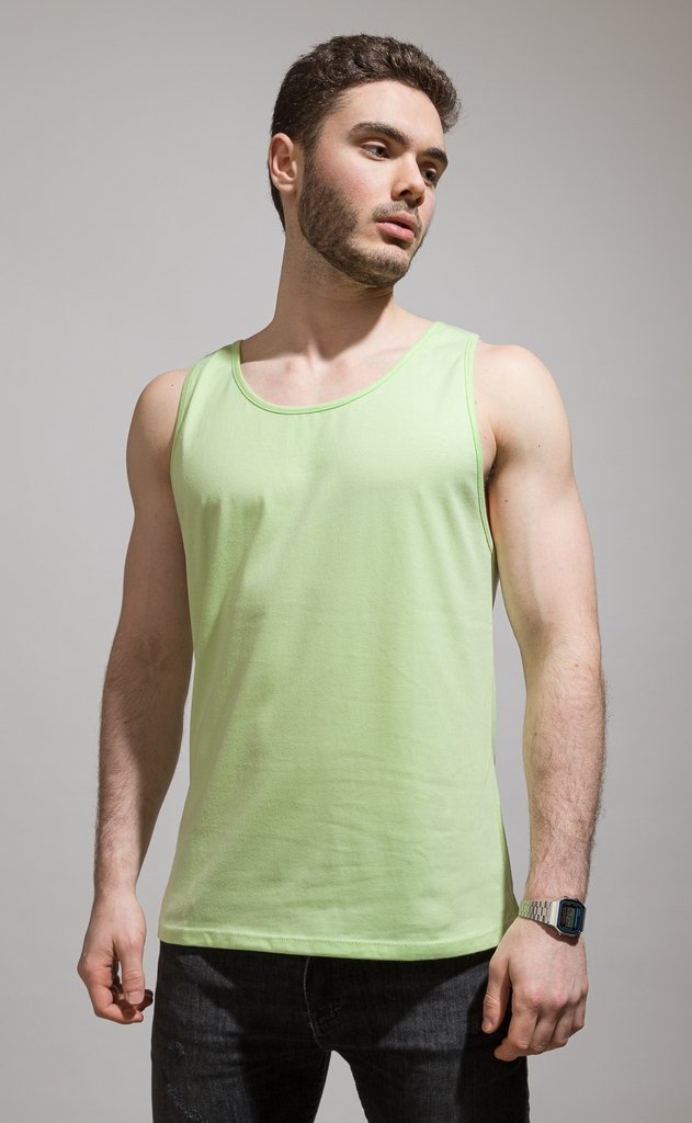 Basic Tanktop - Lime en internet