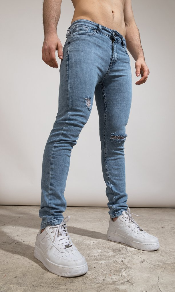 Skinny Jeans - light blue Cuts