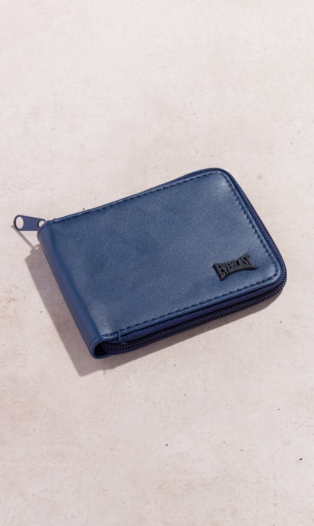 Everlast wallet - blue zipper