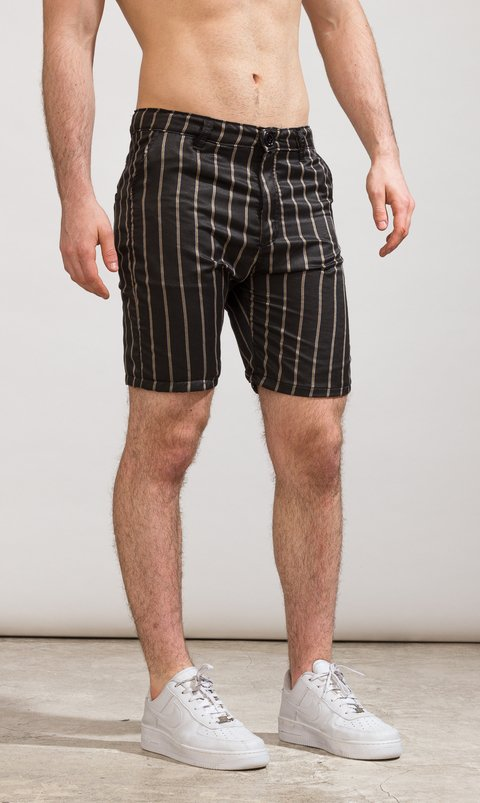 Skinny Bermudas - Stripes lightweight